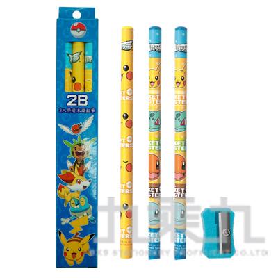 精靈寶可夢3入學前木頭鉛筆 PKPEN60-2
