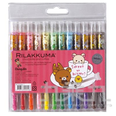 拉拉熊12色旋轉蠟筆巧克力版 RK04056A-1