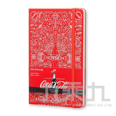MOLESKINE 2015限量可口可樂橫條筆記本-紅