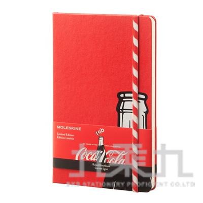MOLESKINE 限量可口可樂橫條筆記本-紅