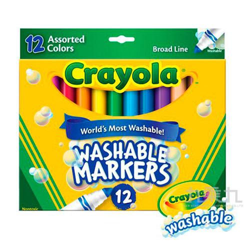 Crayola可水洗粗頭彩色筆12色 587812