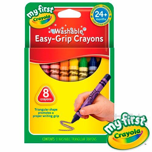 Crayola幼兒可水洗三角蠟筆8色 811308