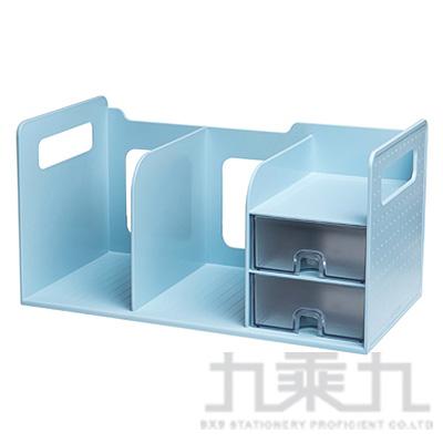 超大型創新書架整理盒(藍色)42300