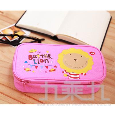 奶油獅多功能筆盒(粉紅) PB201