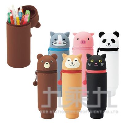 LIHIT小豬造型伸縮筆袋A-7712-5