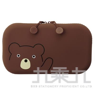 LIHIT小熊方型拉鍊收納包A-7716-1