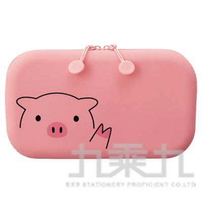 LIHIT小豬方型拉鍊收納包A-7716-5