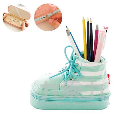 98#條紋馬丁靴筆盒/筆筒