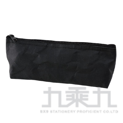 素面水洗牛皮紙長形筆袋-黑色