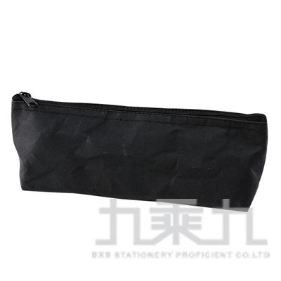 素面水洗牛皮紙大三角筆袋-黑色