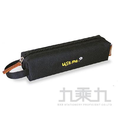 76#USE ME純色系刺繡小巧筆袋(黑)SPC-236B