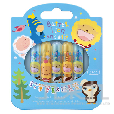 奶油獅鉛筆筆蓋/延長套(藍) PC501