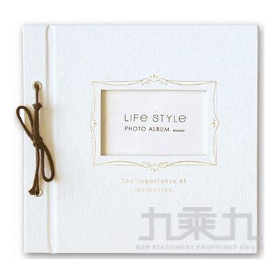 SHINE LIFE STYLE綁繩DIY自黏相本(白) SPA-205A