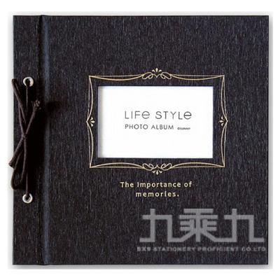 SHINE LIFE STYLE綁繩DIY自黏相本(黑) SPA-205B