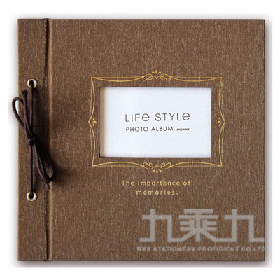 SHINE LIFE STYLE綁繩DIY自黏相本(咖) SPA-205D