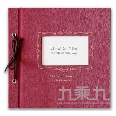 SHINE LIFE STYLE綁繩DIY自黏相本(紅) SPA-205E