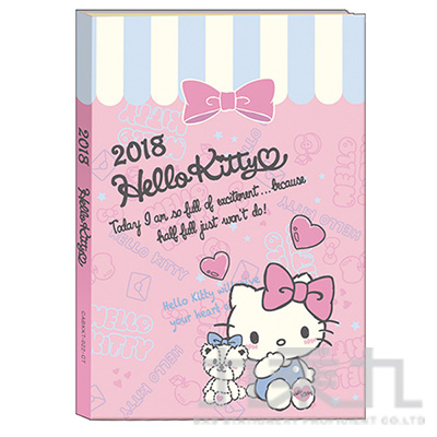 凱蒂貓A6日誌手冊128頁 CABKKT-022-CT