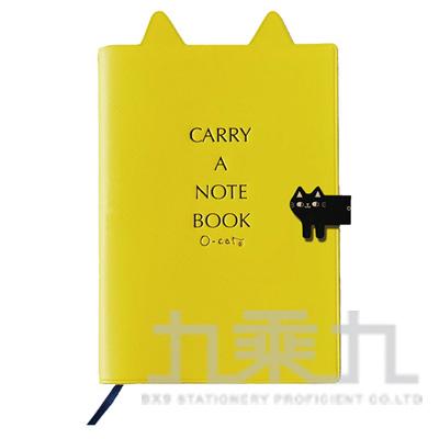 2018 32K跨年手冊-貓耳+書籤(黃) JDM-158C