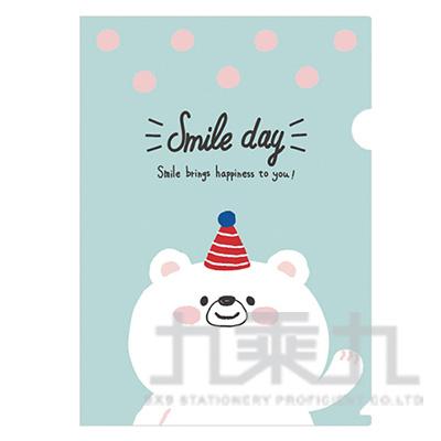 卡哇伊L型書夾D-白熊 UADC0904