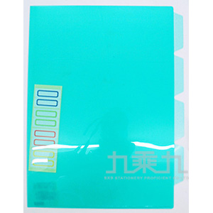 誌揚 PP A4多層文件套-深綠 CH401-DG