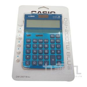 CASIO12位元計算機DW200TW-BU