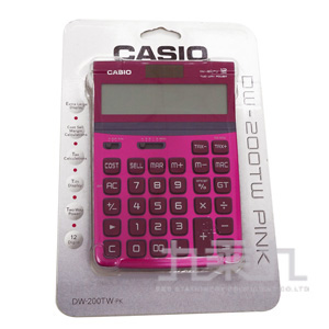 CASIO12位元計算機DW200TW-PK