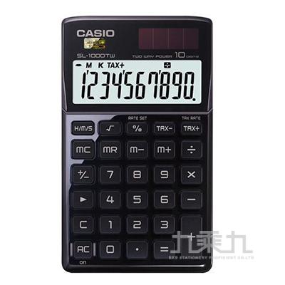 CASIO 10位元計算機SL-1000TW(BK)