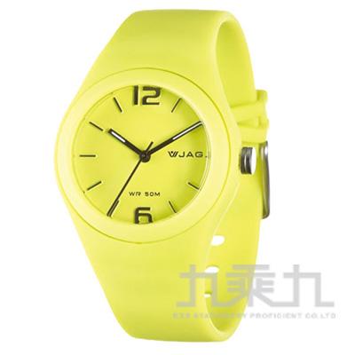 捷卡石英錶-AQ911-K(黃)
