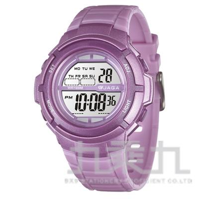 97#捷卡冷光電子女錶(紫)女 M1085-J