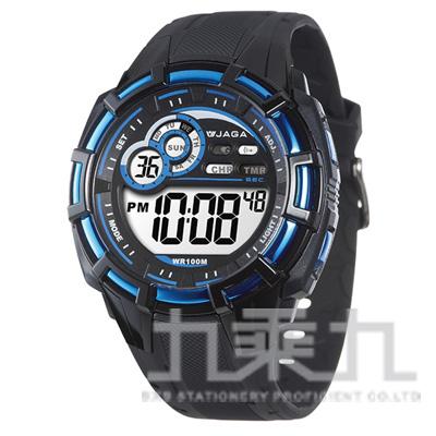 捷卡冷光電子男錶(黑藍) M997-AE