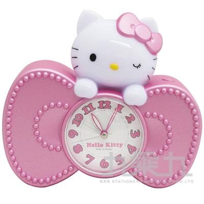 Hello Kitty蝴蝶結造型音樂鬧鐘JM-E601KT