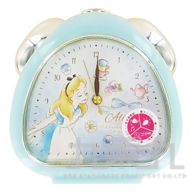 日本迪士尼卡通造型鬧鐘-愛麗絲夢遊仙境DN-5520097AC