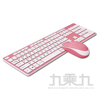 B.FRIEND三區塊無線鍵盤滑鼠組-粉 RF1430PK