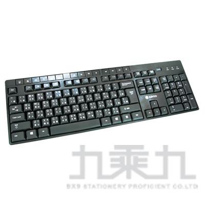 96#KINYO USB多媒體精緻鍵盤 KB-33U