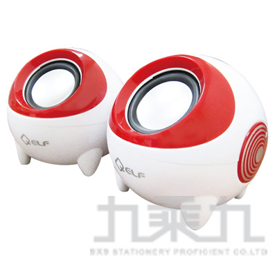 95#KTNET大眼蛙-低音砲多媒體喇叭-紅 AAD-SKU2006r