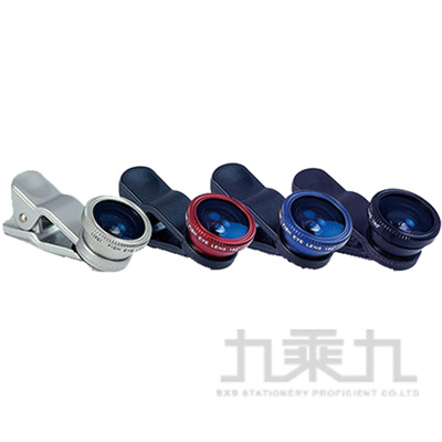 三合一通用型夾式鏡頭-紅(魚眼/廣角/微距) OO-K3