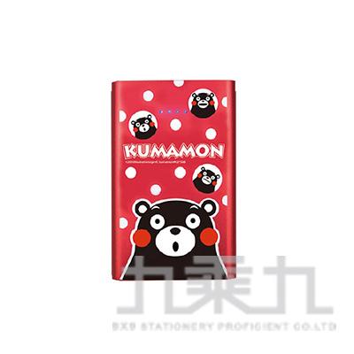 熊本熊悠閒時光 12000 Plus輕薄時尚行動電源-點點紅
