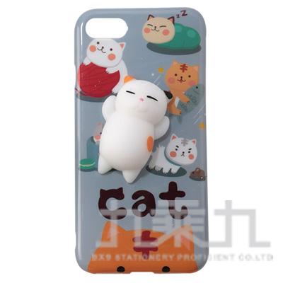 iPhone 7 plus捏捏手機殼-花貓 i7 plus-C001