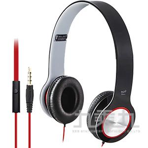 E-books S13 手機接聽鍵摺疊耳機-黑 E-EPA073BK