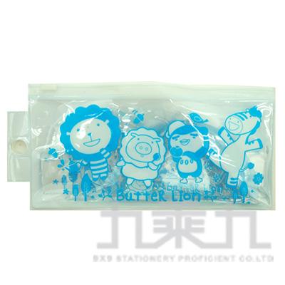 奶油獅學生套尺(藍) RK-008
