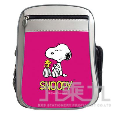 snoopy鏡面護脊書包-粉紅 DK-5708B