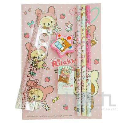 拉拉熊OPP袋文具組草莓兔兔版 RK07039A
