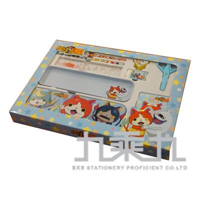 妖怪手錶大紙盒文具組-藍版 YW07161B