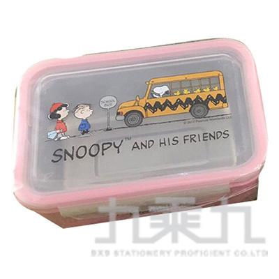 史努比不鏽鋼便當盒-巴士