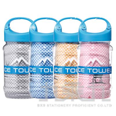 0@瑟夫貝爾反光竹炭抗菌冰涼巾瓶裝 A012-B004