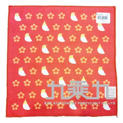 小花鸚鵡小方巾17570 25*25cm