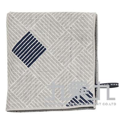 網代格子小方巾17853 25*25cm