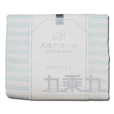 大阪泉州毛巾-橫紋藍(無撚紗使用) TE-1002 121109 滿額贈