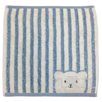 條紋彩色熊小方巾 SG509K(款式多樣,隨機出貨,不挑款)