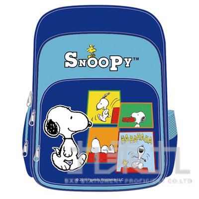 SNOOPY舒適輕量護脊透氣書包-藍色 DK-5330A